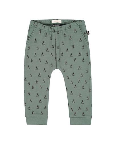 Teal sweatbroek met print